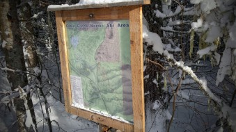 Nordic Cabin Creek sign