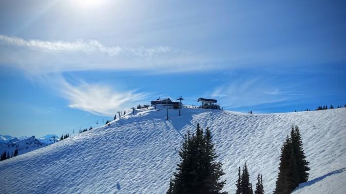 Sunwashed slopes of Crystal
