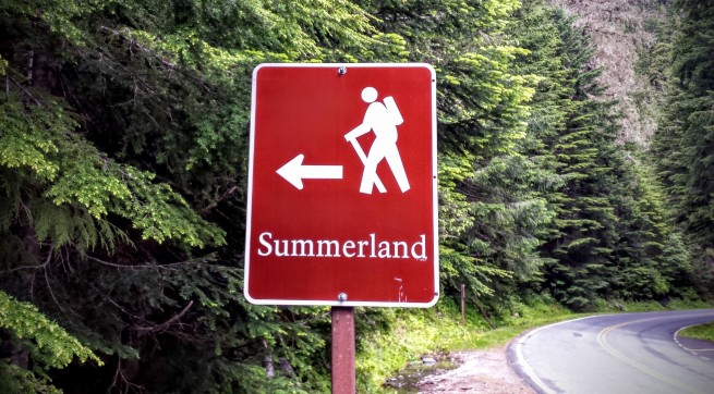 Summerland is four miles away.