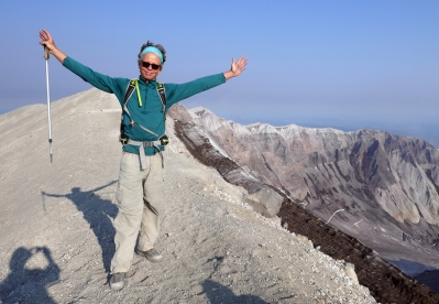 On top of Mount St. Helens.