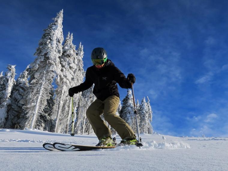 SkiZer on Mt. Spokane's new Chair 6 terrain.