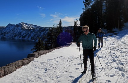 Early season at Crater Lake.