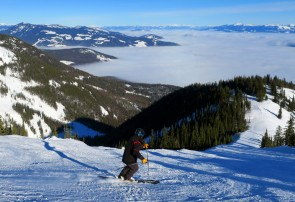 Above the clouds at Red Mountain.