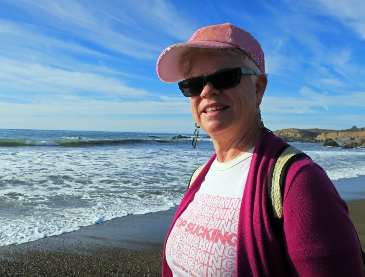 Leslie in San Simeon, Calif.