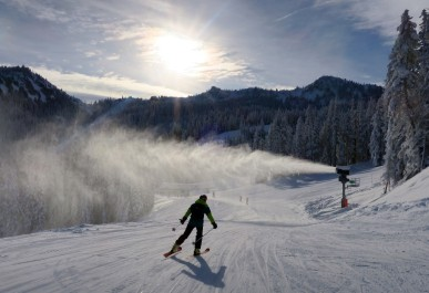 Crystal Mountain's new snowmaking.