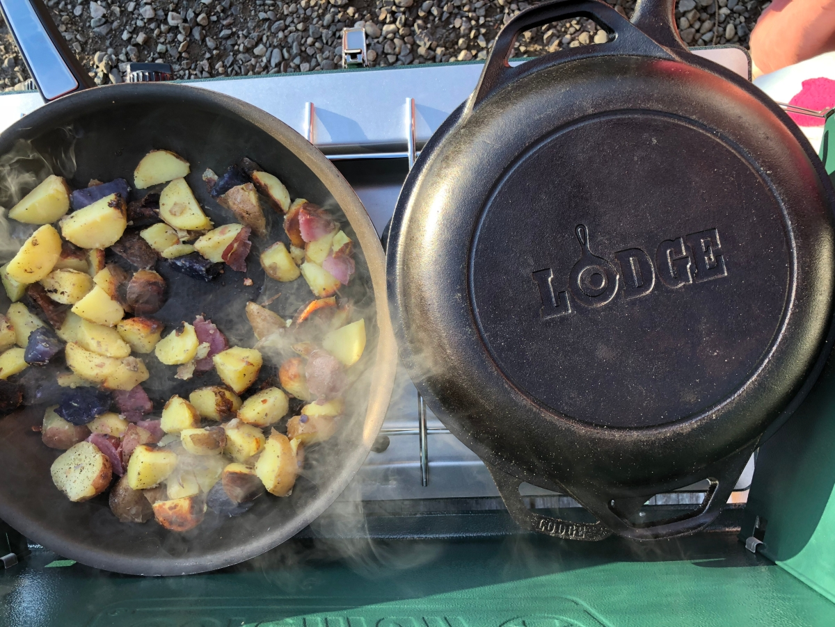 Lodge cast iron, grilling, outdoor cooking