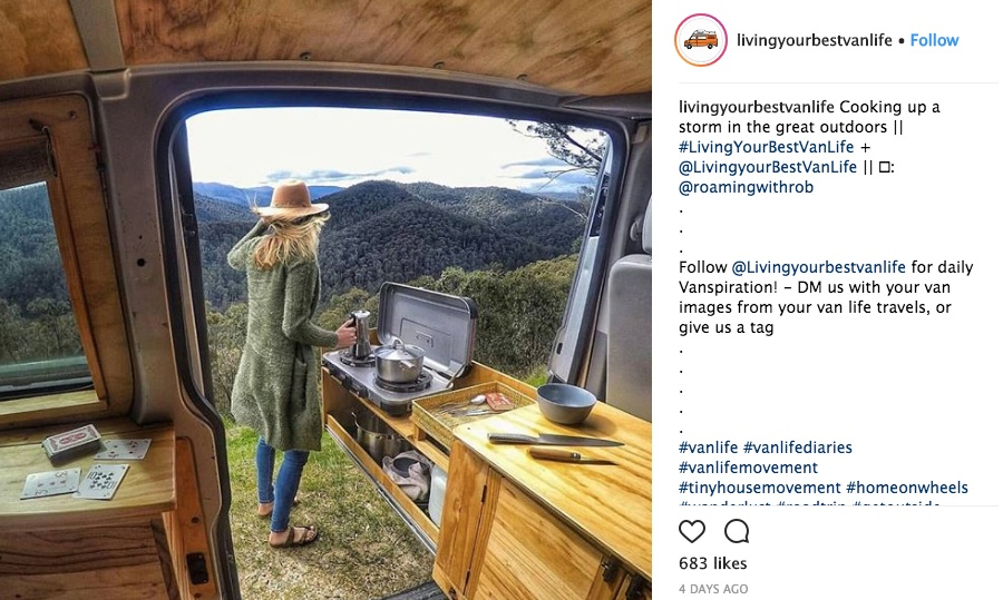 living your best vanlife on insta