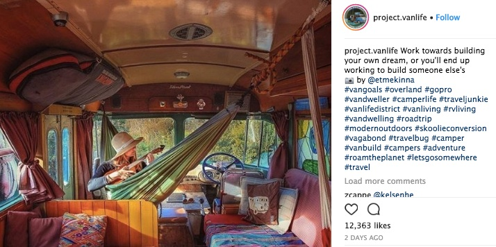 project vanlife on insta